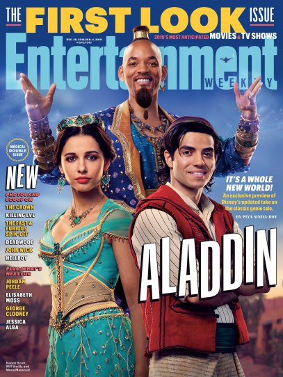 Entertainment Weekly cover of first look for ALADDIN (2019)