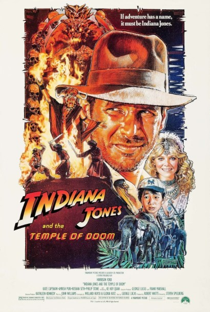 Official Poster for INDIANA JONES AND THE TEMPLE OF DOOM (1984)