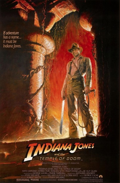 One Sheet Poster for INDIANA JONES AND THE TEMPLE OF DOOM (1984)