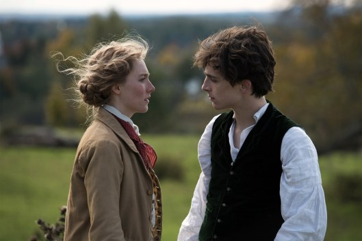 Saoirse Ronan (Jo) and Timothée Chalamet (Laurie) star in LITTLE WOMEN (2019)
