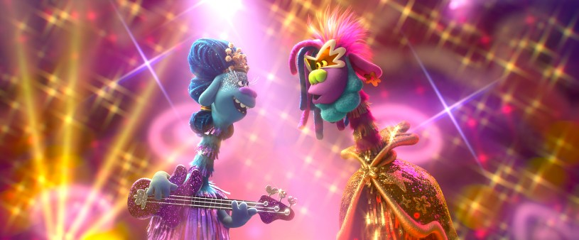 (from left) – Meet the King and Queen of Funk: King Quincy (George Clinton) and Queen Essence (Mary J. Blige) in Trolls World Tour, directed by Walt Dohrn.