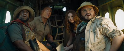 Kevin Hart, Dwayne Johnson, Karen Gillan, and Jack Black star in JUMANJI: THE NEXT LEVEL (2019)