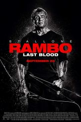 Black & White character poster for RAMBO: LAST BLOOD (2019)