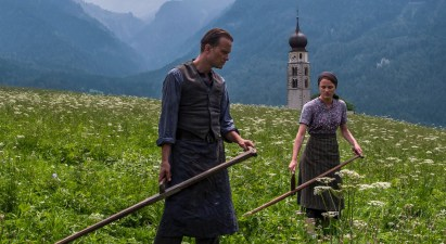 August Diehl and Valerie Pachner star as Franz and Franziska Jägerstätter in Terrence Malick's A HIDDEN LIFE (2019)