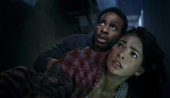 André Holland and Natalie Martinez star in the Jurassic World short film BATTLE AT BIG ROCK (2019)