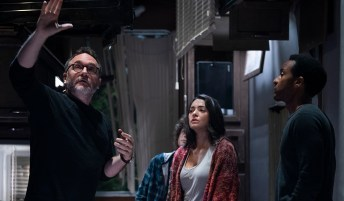 Colin Trevorrow directs Natalie Martinez and André Holland in the Jurassic World short film BATTLE AT BIG ROCK (2019)