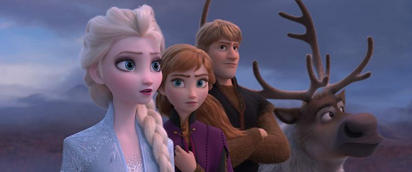 Idina Menzel (Elsa), Kristen Bell (Anna), and Jonathan Groff (Kristoff) – along with the Sven, the reindeer – return for the Walt Disney Animation sequel FROZEN II (2019)