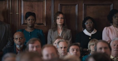 Brie Larson co-stars as criminal justice advocate Eva Ansley in the true story courtroom drama JUST MERCY (2019)