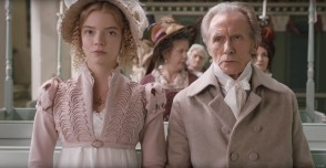 Anya Taylor-Joy (Emma) and Bill Nighy (Mr. Woodhouse) star in the adaptation of Jane Austen's EMMA (2019)
