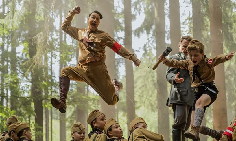 Taika Waititi (Hitler) and Roman Griffin Davis (Jojo) star in the World War II satire-fable JOJO RABBIT (2019)