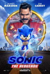 One Sheet Poster for the animation / live action hybrid SONIC THE HEDGEHOG (2020)