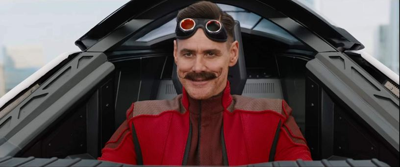 Jim Carrey stars as Dr. Ivo Robotnik in the animation / live action hybrid SONIC THE HEDGEHOG (2020)