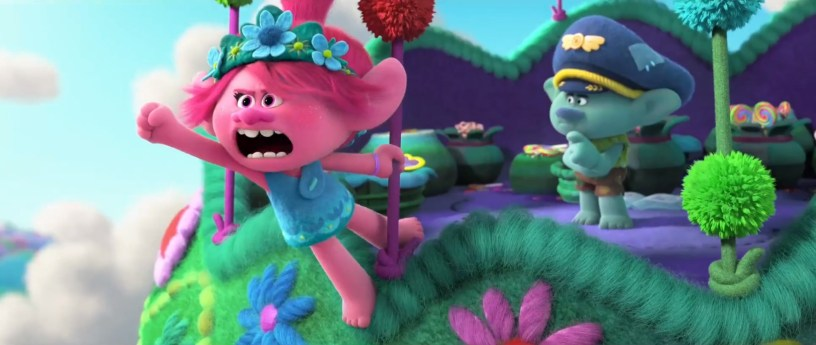 Anna Kendrick stars as the voice of Poppy in the animated sequel TROLLS WORLD TOUR (2020)