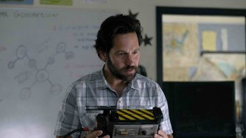 Paul Rudd plays school teacher and Ghostbusters obsessive Mr. Grooberson in GHOSTBUSTERS: AFTERLIFE (2020)
