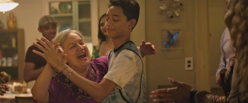 Olga Merediz (Abuela Claudia) and Gregory Diaz IV (Sonny) co-star in the film adaptation of Lin-Manuel Miranda's Tony winner for Best Musical IN THE HEIGHTS (2020)