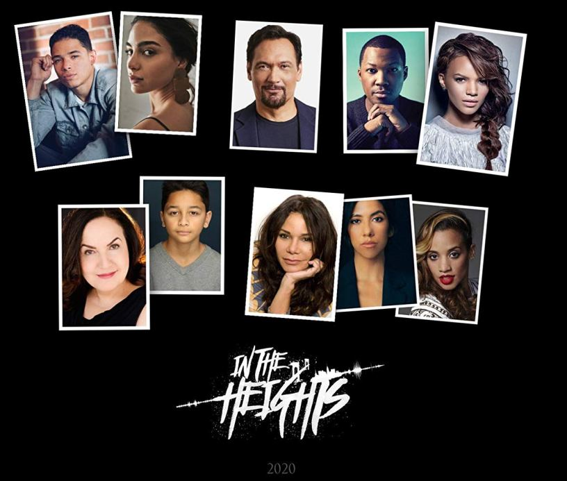 Cast collage for Lin-Manuel Miranda's IN THE HEIGHTS (2020)