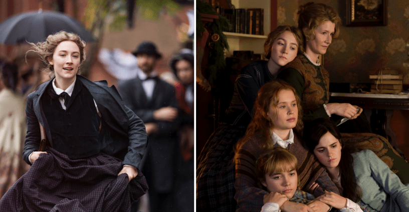 Two of four smart phone wallpapers from LITTLE WOMEN (2020)