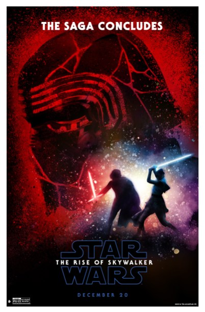 Art Poster of Rey / Kylo final battle -- in a design homage to the rare REVENGE OF THE JEDI poster -- from STAR WARS: THE RISE OF SKYWALKER (2019)