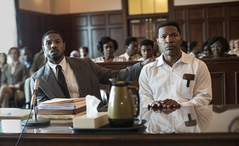 Michael B. Jordan and Jamie Foxx star in the real-life death row drama JUST MERCY (2019)