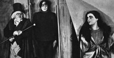 Werner Krauss (Dr. Caligari), Conrad Veidt (Cesare), and Lil Dagover (Jane) star in THE CABINET OF DR. CALIGARI (1920)