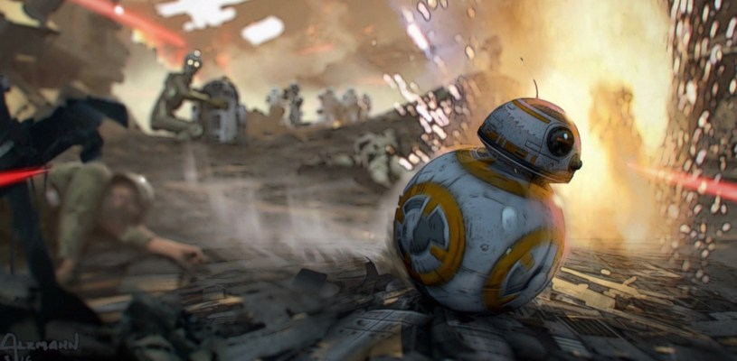 BB-8 whirls through the Battle of Coruscant in STAR WARS: DUEL OF THE FATES