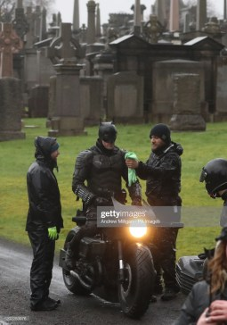 A man dressed as Batman during filming at the Glasgow Necropolis cemetery for a new movie for the surperhero franchise. (Photo by Andrew Milligan/PA Images via Getty Images)