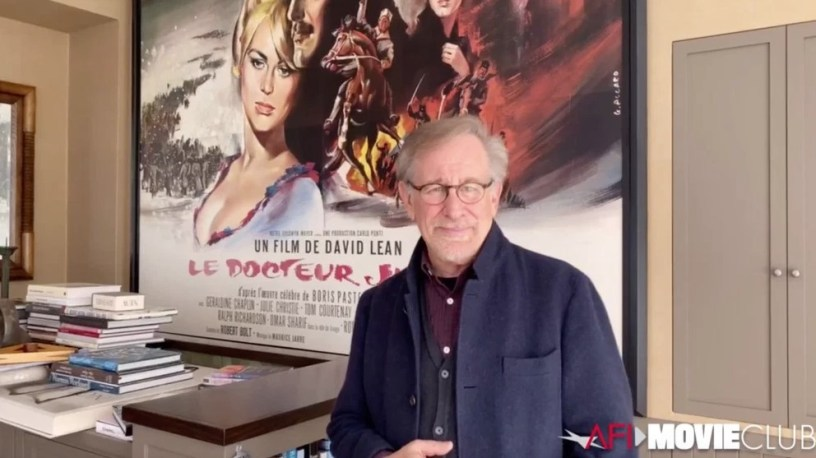 Steven Spielberg kicks off the AFI Movie Club, streaming online daily during the month of April.