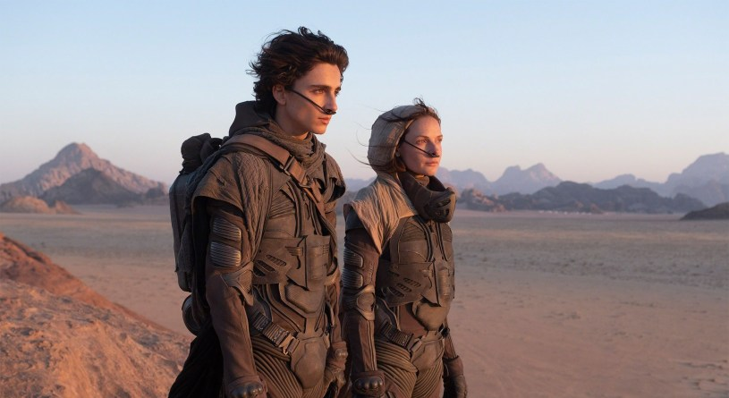 Timothée Chalamet (Paul Atreides) and Rebecca Ferguson (Lady Jessica Atreides) star in director Denis Villeneuve's adaptation of Frank Herbert's DUNE (2020)