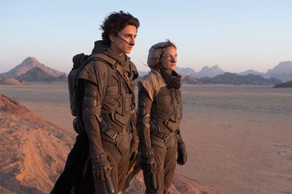Timothée Chalamet (Paul Atreides) and Rebecca Ferguson (Lady Jessica Atreides) star in director Denis Villeneuve's adaptation of Frank Herbert's DUNE (2020) (PHOTO BY CHIABELLA JAMES)