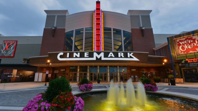 Entrance to a Cinemark Theaters multiplex.