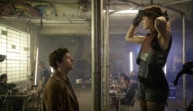 Tye Sheridan and Olivia Cooke star as Wade Watts (a.k.a. Parzival) and Samantha (a.ka. Art3mis) in Steven Spielberg's adaptation of READY PLAYER ONE (2018)