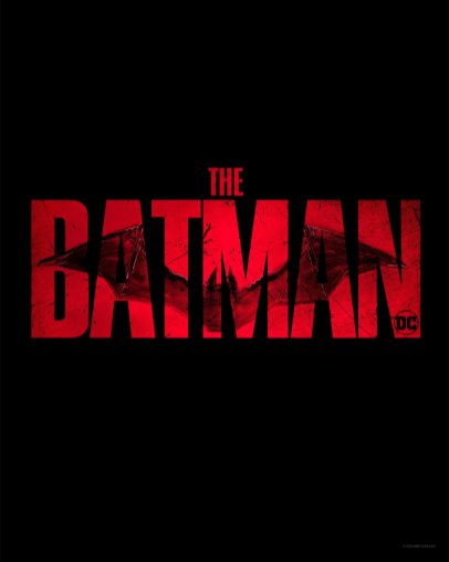 Official title logo for director Matt Reeves upcoming movie THE BATMAN (2021)