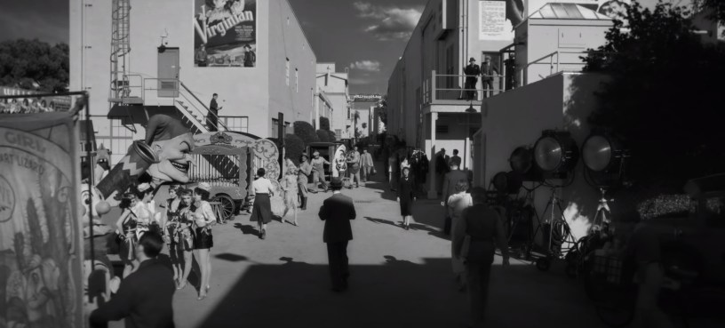 "A studio backlot in MANK (2020), Netflix's ""writing of CITIZEN KANE"" biopic from director David Fincher."