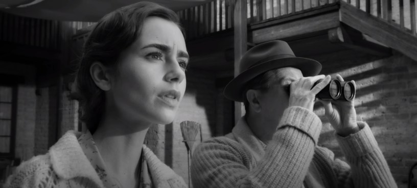 "Lily Collins co-stars with Gary Oldman in MANK (2020), Netflix's ""writing of CITIZEN KANE"" biopic from director David Fincher."