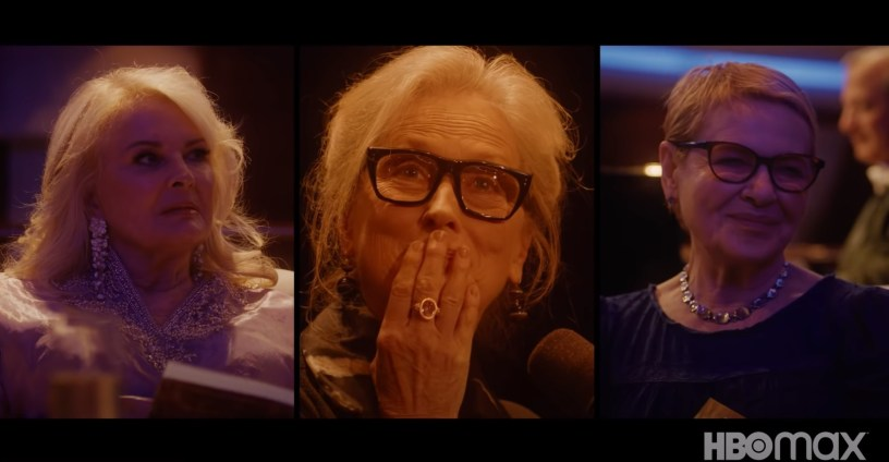 Candice Bergen, Meryl Streep, and Dianne Wiest star in Steven Soderbergh's new HBO Max film LET THEM ALL TALK (2020)
