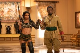Teyana Taylor and Wesley Snipes co-star in the Amazon Prime comedy sequel COMING 2 AMERICA (2021)