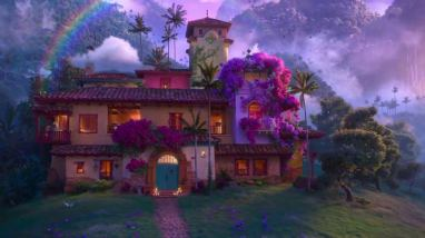 A magical house in ENCANTO (2021), the 60th animated feature from Walt Disney Animation Studios.