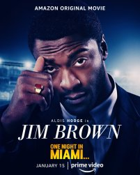 One Sheet Poster for Jim Brown (Aldis Hodge) for the Amazon Prime film ONE NIGHT IN MIAMI... (2020)
