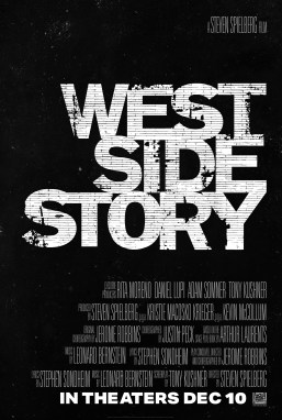 One Sheet credits poster for Steven Spielberg's adaptation of WEST SIDE STORY (2021)