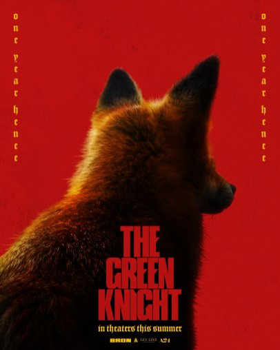 Character Poster for the Talking Fox in David Lowery's adaptation of the medieval poem THE GREEN KNIGHT (2021)
