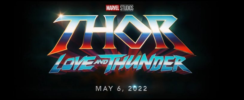 THOR: LOVE AND THUNDER Logo Title and Date