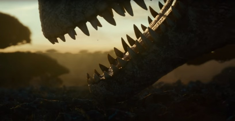 The jaws of a T-Rex from 65 million years ago in JURASSIC WORLD: DOMINION (2022)