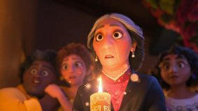 A candlelight vigil in the Disney animated movie ENCANTO (2021)