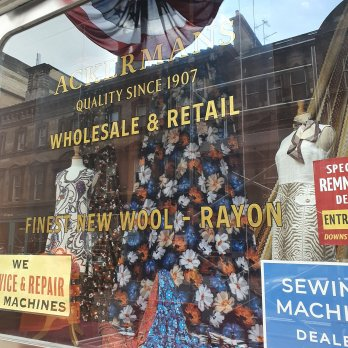 A 1969 NYC department store display on the Glasgow, Scotland set of INDY 5.