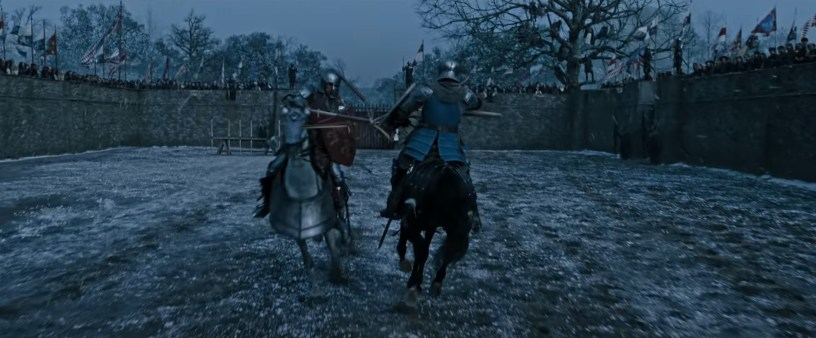 Matt Damon and Adam Driver co-star in Ridley Scott's medieval French epic THE LAST DUEL (2021)