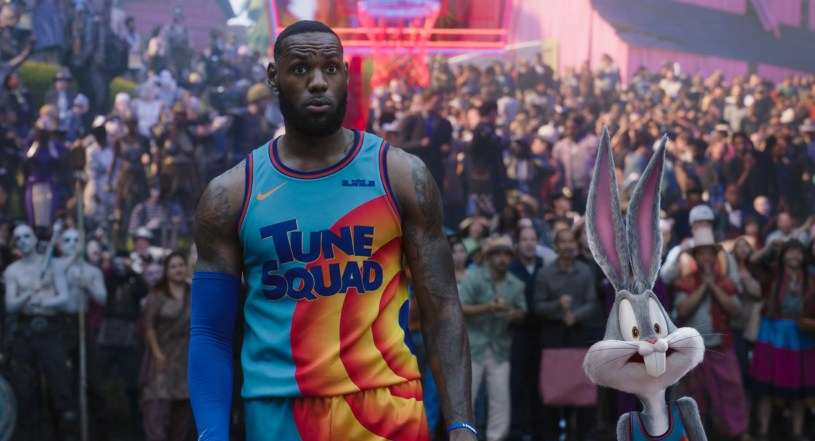 NBA player LeBron James stars alongside Bugs Bunny in the live action / animated hybrid sequel SPACE JAM: A NEW LEGACY (2021)