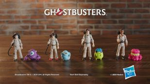 Hasbro toys for the new kids of GHOSTBUSTERS: AFTERLIFE. Podcast (Logan Kim), and Phoebe (Mckenna Grace), Trevor (Finn Wolfhard), and Lucky (Celeste O'Connor), plus new ghosts appearing in the film.