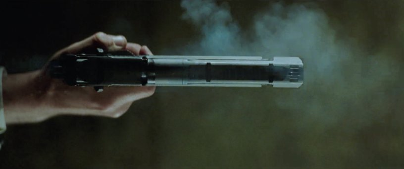 A gun is fired in THE MATRIX RESURRECTIONS (2021)