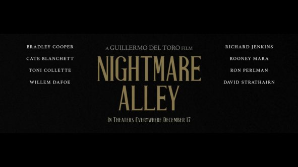 The cast of the new film noir NIGHTMARE ALLEY (2021), from Academy Award winning director Guillermo del Toro.