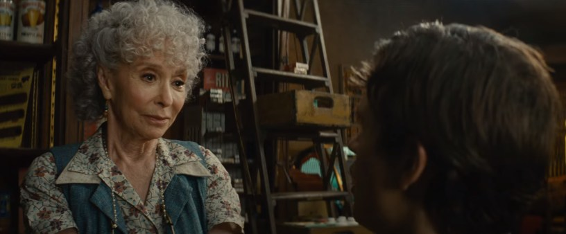 Rita Moreno co-stars as Valentina in Steven Spielberg's adaptation of WEST SIDE STORY (2021)
